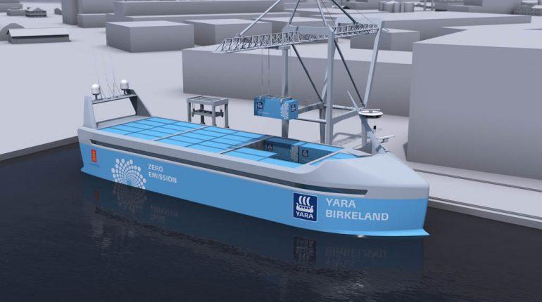 اولین کشتی کانتینری خودران #بدون_خدمه جهان